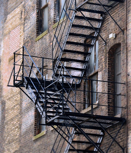 A Fire Escape.
