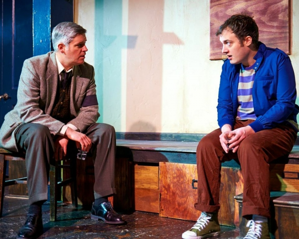 "Pat Whalen (right) with Peter Moore in ""The Life and Sort of Death of Eric Argyle"" at Steep Theatre"