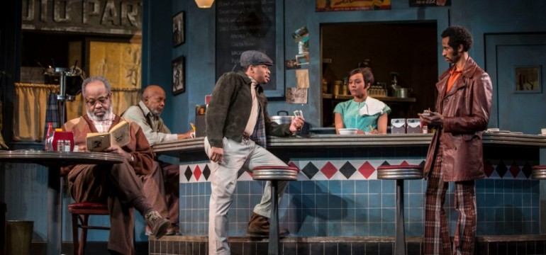"Columbia College Chicago Theatre alumnus Chester Gregory (center) co-stars in Goodman Theatre's ""Two Trains Running"""
