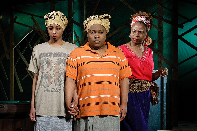 "BrittneyLove Smith (center) in Eclipse Theatre's Jeff Award-nominated production ""Ruined"""