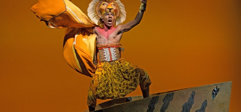 "Aaron Nelson as Simba in ""The Lion King"""