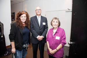 Columbia College Theatre Department faculty members Heather Gilbert (left) and Dr. Caroline Latta (right) with Columbia College Chicago Provost Dr. Stanley Wearden