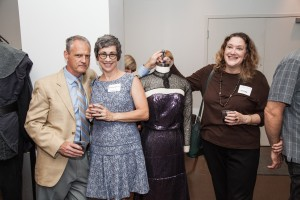Columbia College Theatre Department alumni and teachers Brian Shaw and Stephanie Shaw with Columbia College alumna and Chicago Tribune theatre critic Kerry Reid