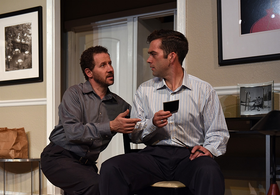 "Joel Reitsma (right) and Joe McCauley in Eclipse Theatre's production of ""The Lisbon Traviata"" (Photo: Scott Dray)"