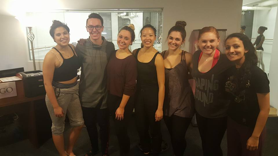 Alluvion Dance Chicago founder/artistic director Johnny Hunton (second from left) with members of the Alluvion Dance Chicago ensemble.