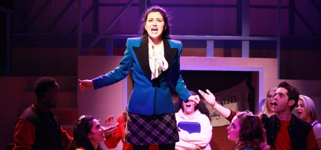 "Courtney Mack (center) in ""Heathers."""