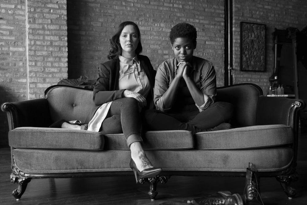 Samantha Lee (left) and Samantha Bailey. (Photo: Miguel Gutierrez Jr. at Black Oak Tattoo)