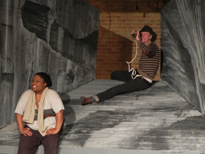 "BrittneyLove Smith (left) and Kelli Simpkins in reheasal for ""Men on Boats"" (Photo: Logan Jones)"