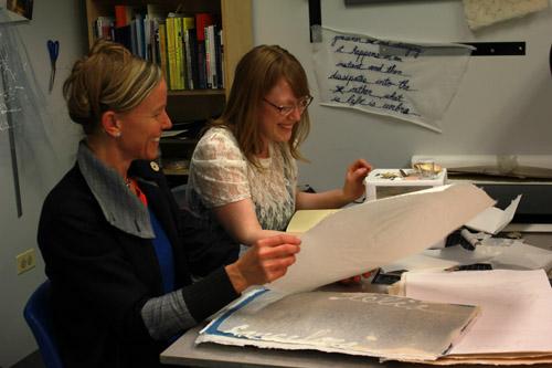 Liz Isakson with Adriane Colburn