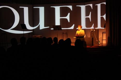 Michelle Citron introduces the thesis performances