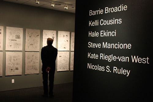 Title wall at the Arcade Gallery
